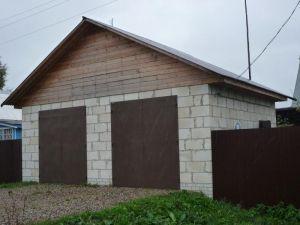 гараж из блоков
