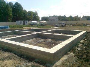 заливка бетонной основы