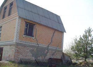 Разрушение фундамента может повлечь разрушение стен