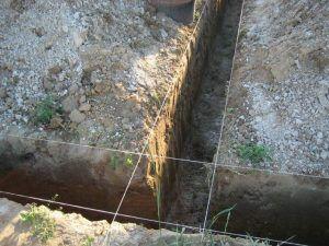 Котлован под основание глубокого заложения может быть глубиной до нескольких метров