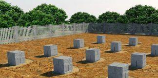 поле столбов