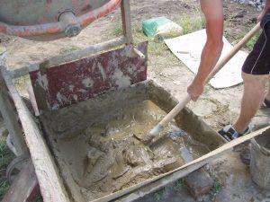 смесь из цемента и песка