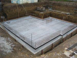 Залитое бетонное основание