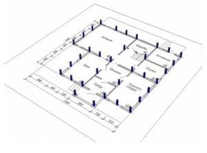 Пример конструкции расположения опор