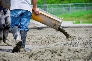 заливка бетона