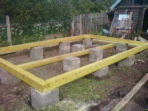 Столбчатый фундамент под баню