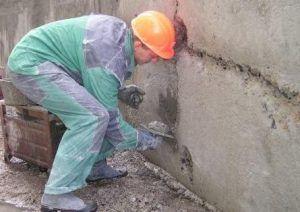 Ремонт трещин бетонным раствором