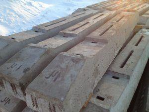 Железобетонные шпалы используются в качестве балок