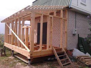 Изготовление фундамента для пристройки к дому