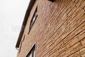 Отделка фасада цокольными панелями