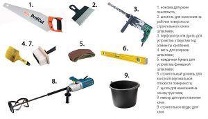 инструменты для утепления