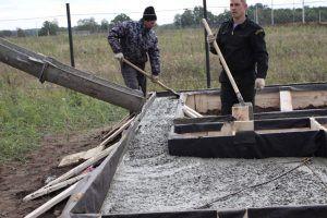 Опалубка заливка бетона