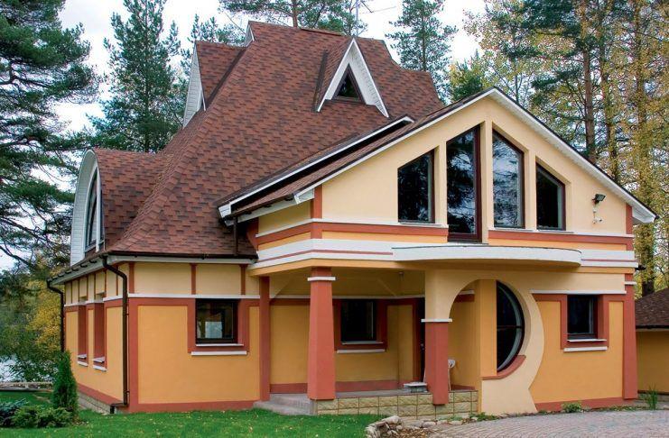 вухэтажного загородного дома с мансардой