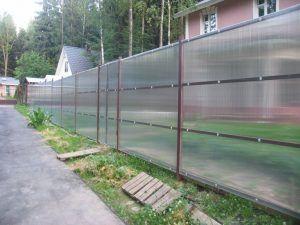 Забор поликарбонат