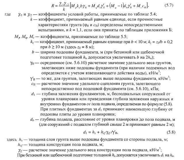 Выполнение расчета ленточного фундамента
