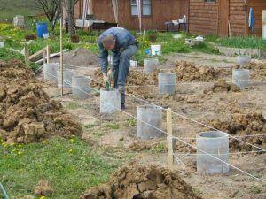 Монтаж бетонных свай