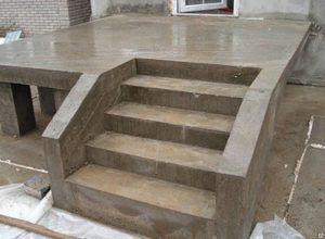 одномаршевое бетонное крыльцо