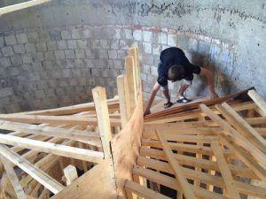 Процесс сборки конструкции