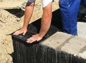 Гидроизоляция ленты из блоков