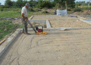 укладка песка