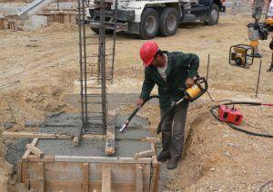 уплотнение бетона вибрацией