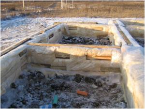 Утепление ленточного фундамента на зиму
