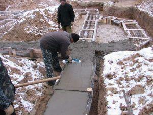 застывание бетона зимой