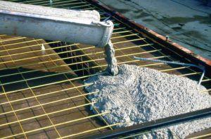 заливка бетонной площадки