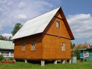 дом на жб сваях