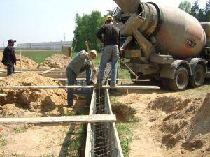 бетонирование ленты