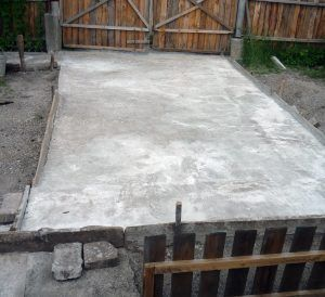 Бетонная площадка