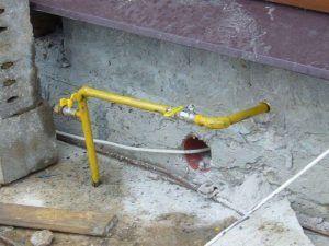 Цокольный газовый ввод