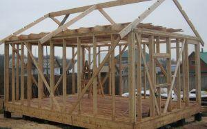 Строительство бани на столбовом основании