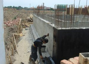 Процесс обмазочной гидроизоляции