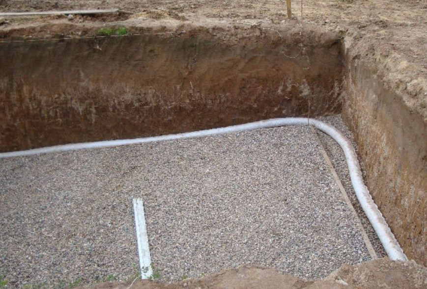 Дренаж под плитный фундамент