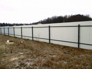 Винтовые сваи забор