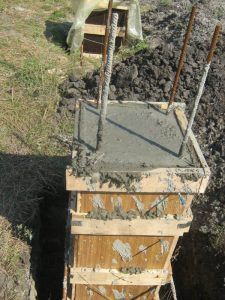 Заливка столбчатых опор